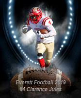 Everett #4 Clarence Jules Grid Iron