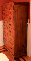 1780-1790 New England Chippendale Maple Chest of 7 graduated drawers