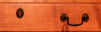 1780-1790 New England Chippendale Tiger Maple Chest of 7 graduated drawers